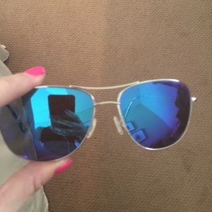 Maui Jim silver polarized aviator Sunglasses